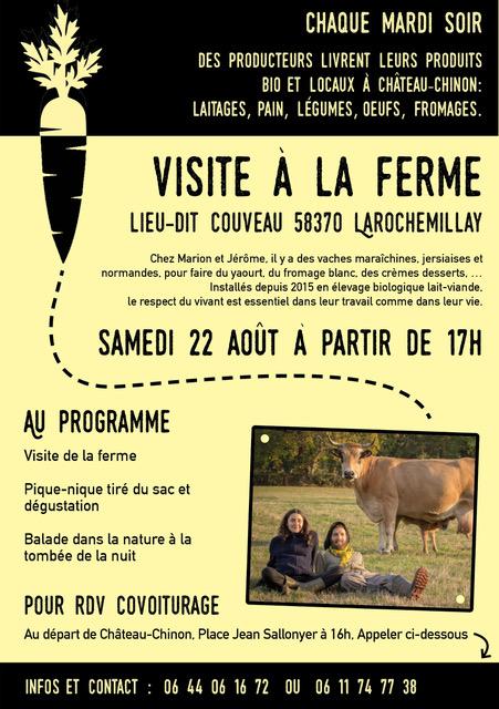 Chez Marion et Jérôme, Le Couveau. 17h suivie d'un pic-nic tiré du sac et d'une balade dans la nature à la tombée de la nuit.